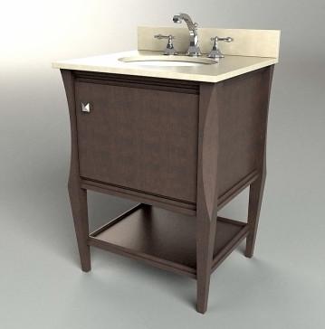 Dvontz sh1124 es sahara 24 espresso bathroom vanity for Dvontz bathroom vanity