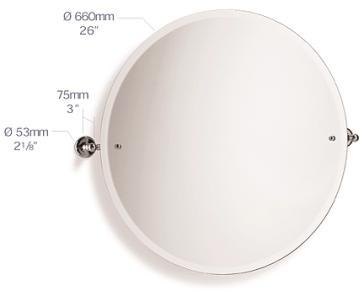 Samuel Heath L1145 XL Novis Large Round Swivel Mirror