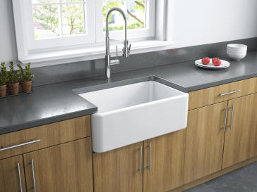 X  Fireclay Farmhouse Reversible Kitchen Sink By Latoscana