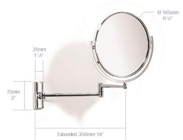 Samuel Heath L114 PN Novis 6 1 2 Double Arm Reversible Plain Magnifying