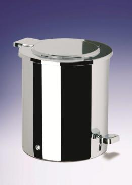 Windisch 89100 waste bins bath bin with cover for Covered bathroom wastebasket