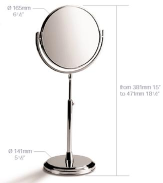 Samuel Heath L107 6 1 2 Free Standing Reversible Plain Magnifying X3