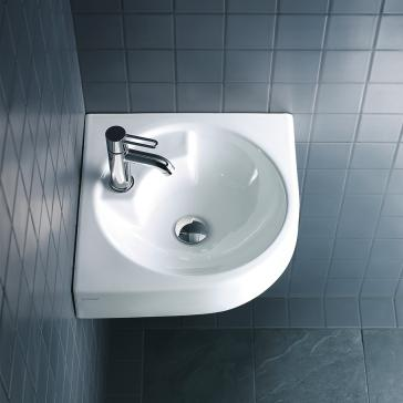 Duravit 044845 architec wall mount washbasin corner model for Duravit architec sink