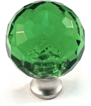 Cal crystal m30 crystal knobs round colored crystal for Colored glass cabinet knobs