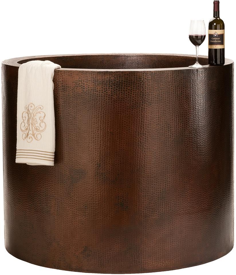 copper japanese soaking tub.  Compact Comfort The Japanese Tub Abode