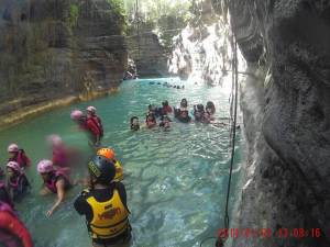 canyoneering Cebu or Cebu canyoneering or badian canyonering