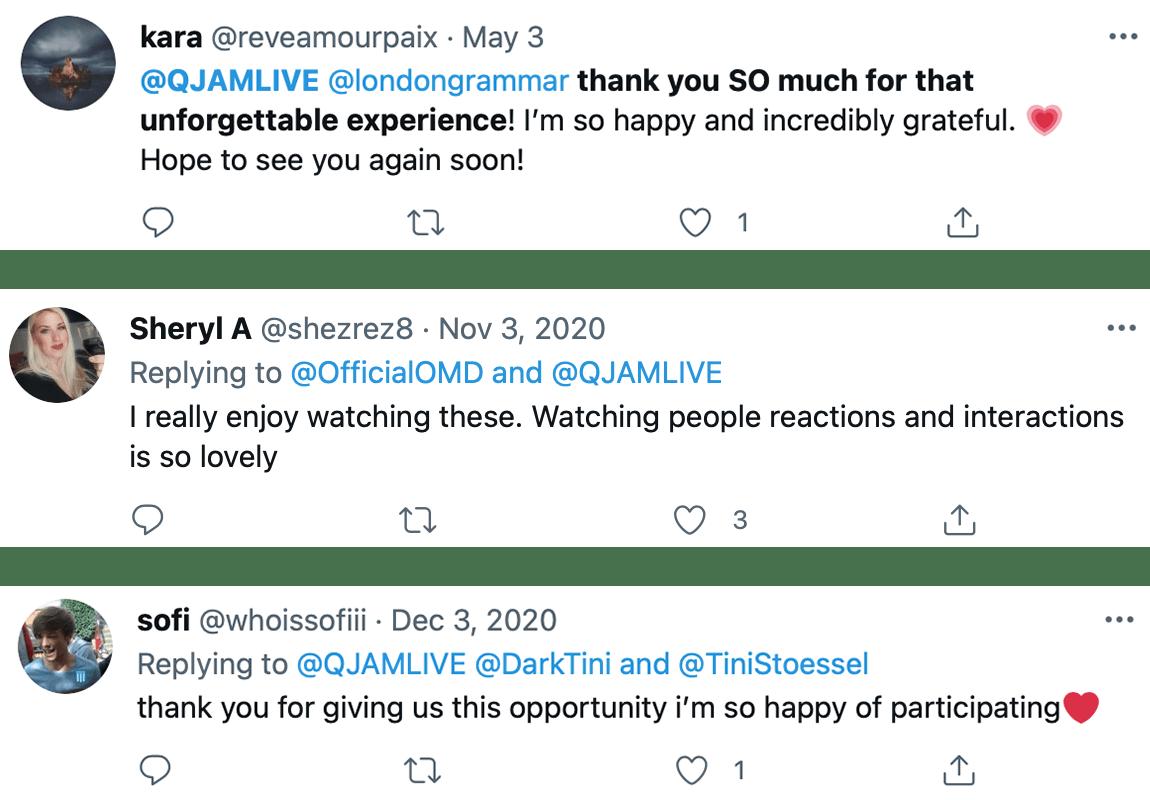 Post event user tweets