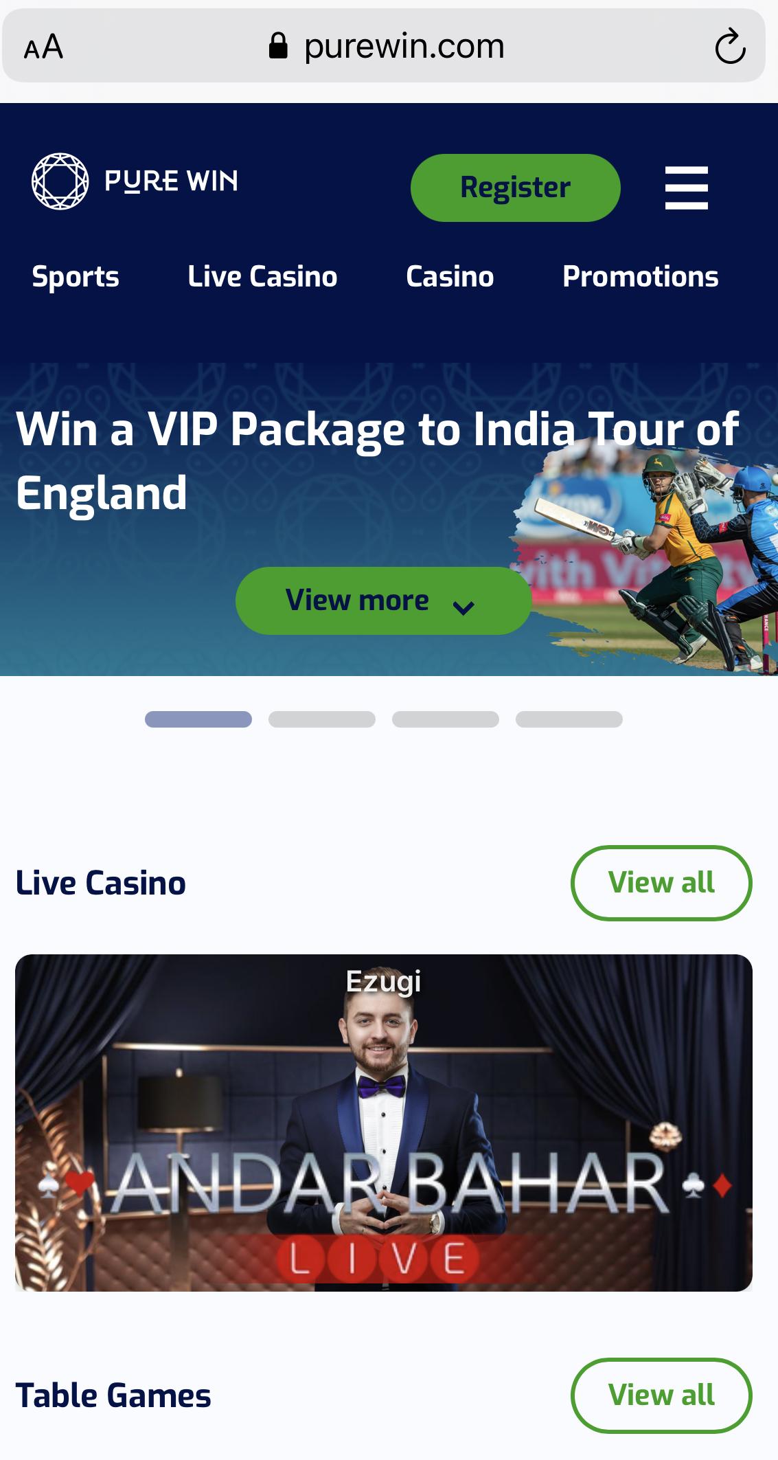 Pure Win Online Casino