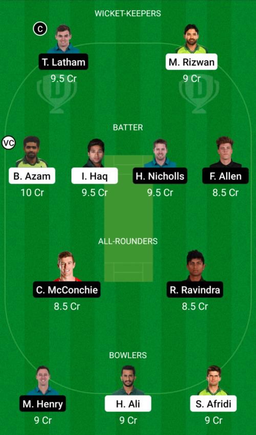 Pakistan vs New Zealand Dream11 Team Prediction