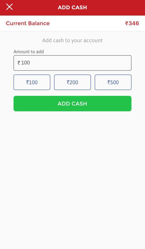 Dream11 Deposit Page