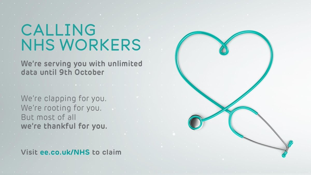 EE GIVES UNLIMITED DATA TO NHS HEROES