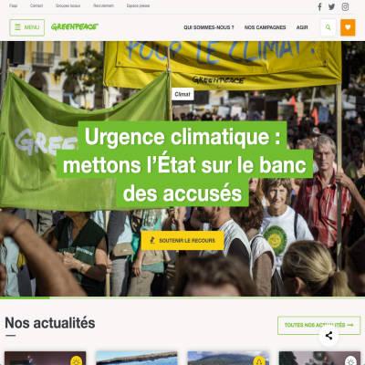greenpeace.fr - assistance à la maîtrise d'ouvrage et développement Wordpress