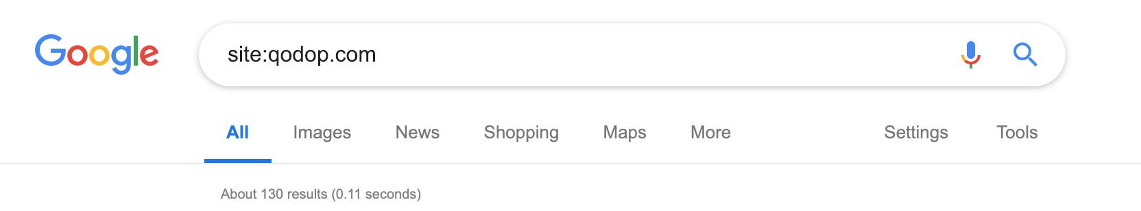 recherche Google sur un seul site web