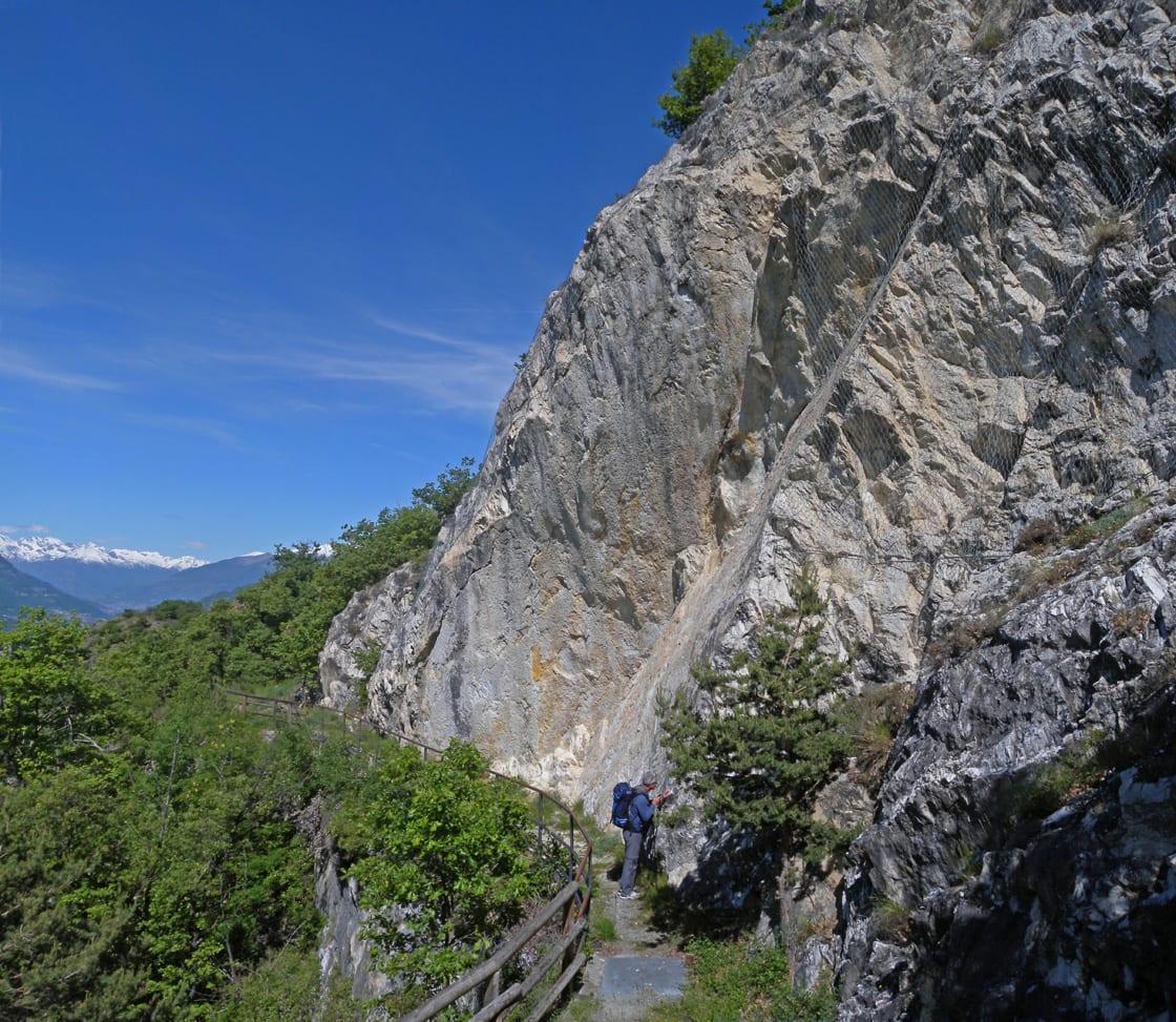 04. Bancata di roccia bianca.