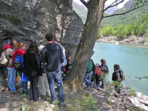 Classes en visite au site de Chiapetti (Quincinetto, Italie)