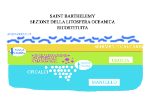 Sezione della litosfera oceanica ricostituita