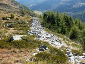 3. Parte del settore orientale della muraglia di Dondenaz.
