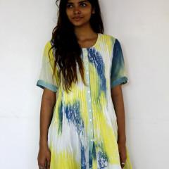 Marble Tie Dye Pleated Dress!!