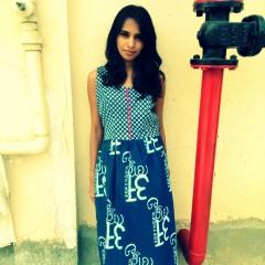 Indigo Letter Dress