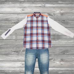 Orange Checks Obsession Shirt