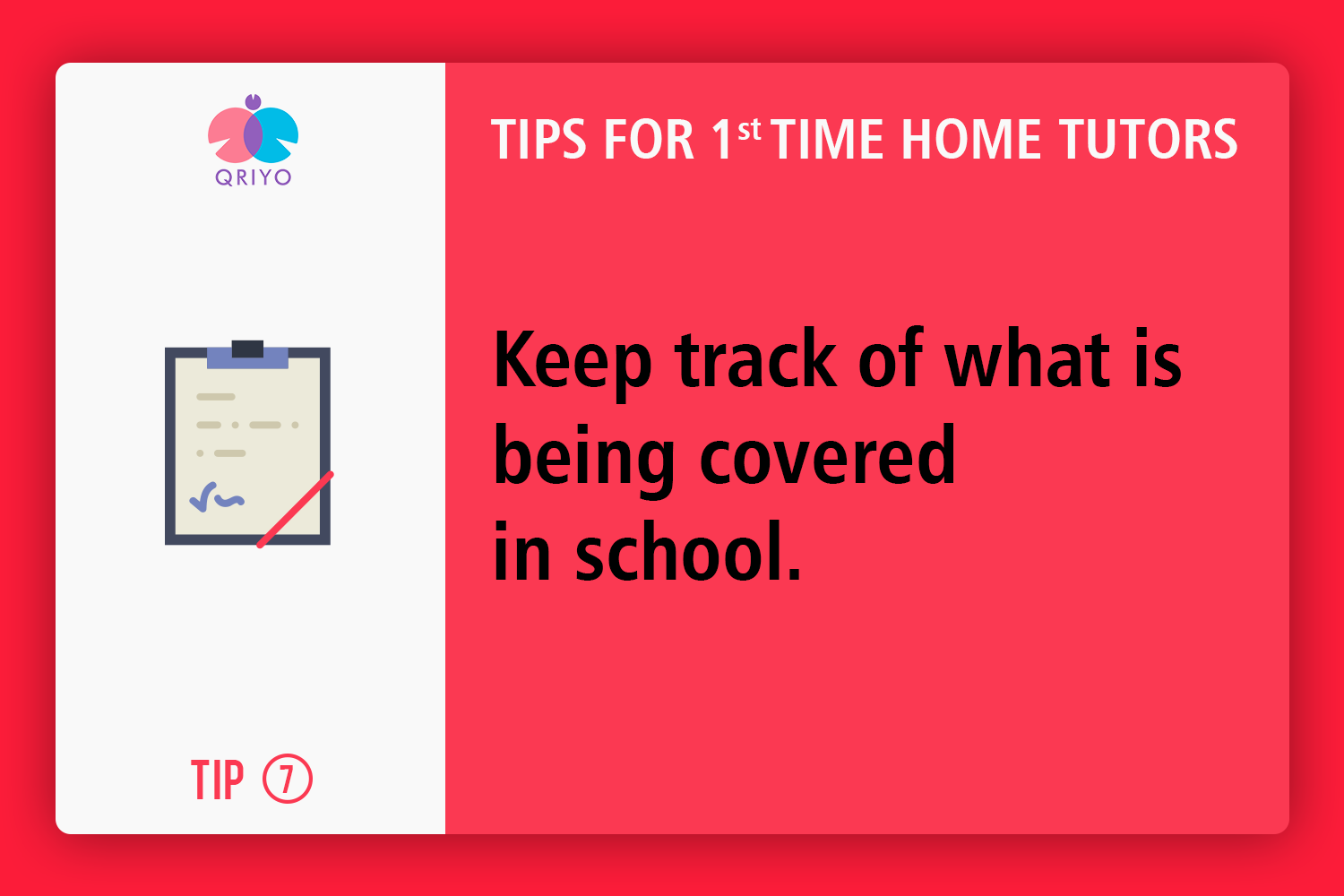 Keep track of what is being covered in schools.