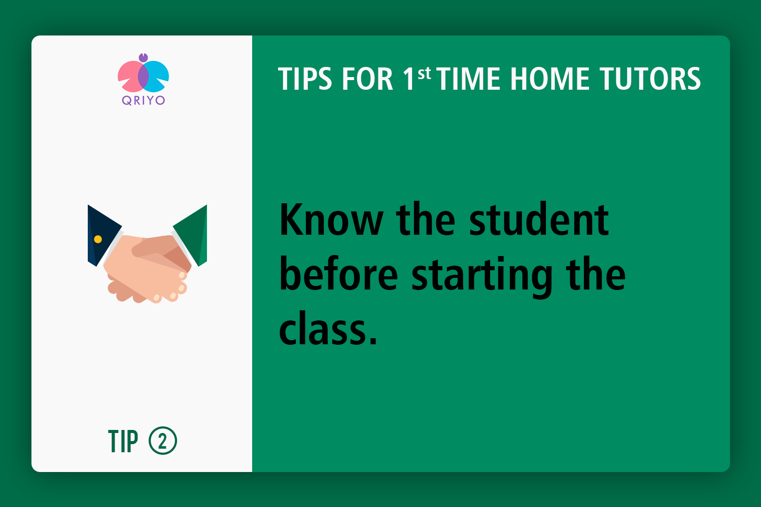 start with knowing the student first.