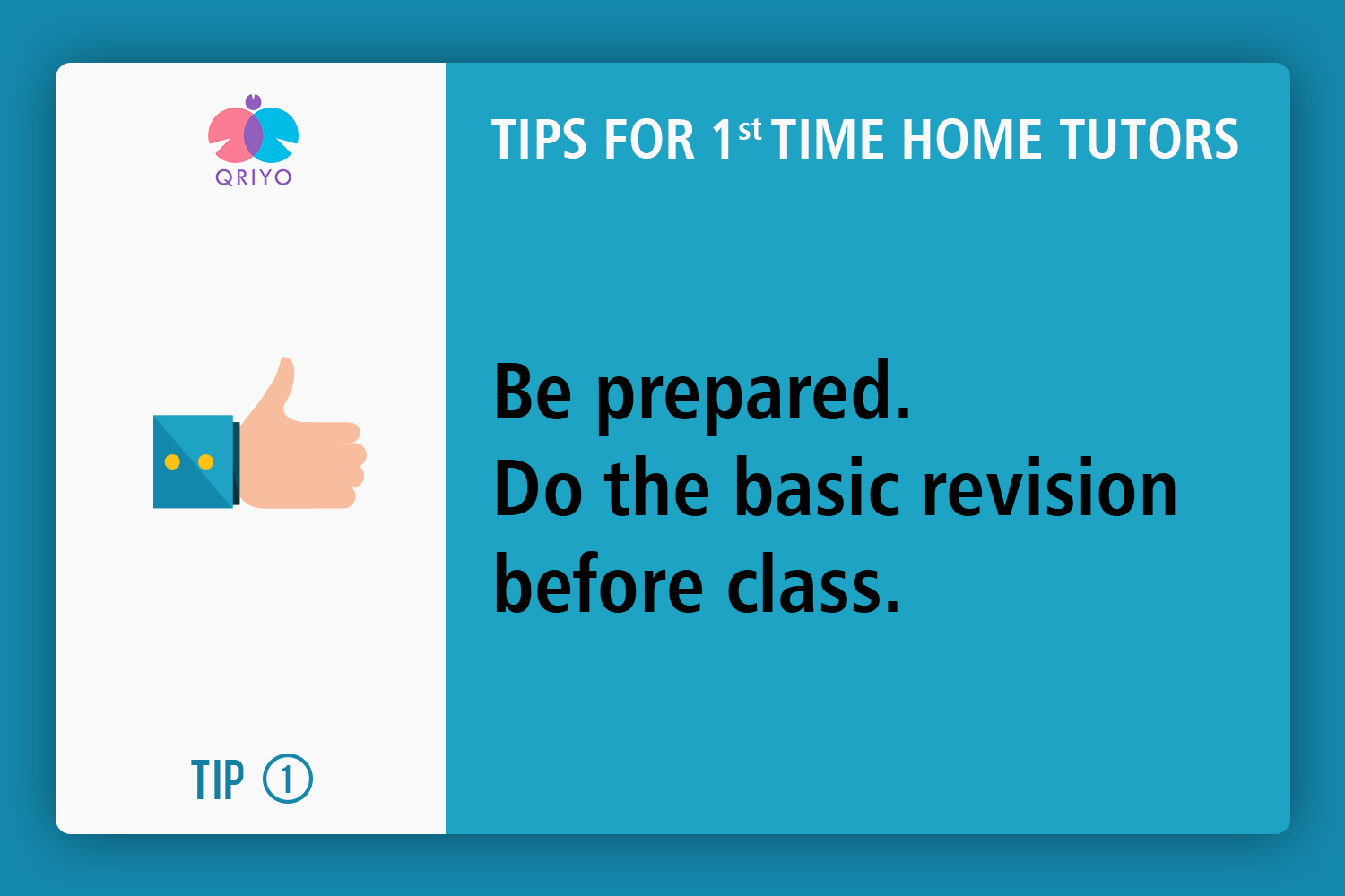 Be prepared.Do the basic revision before class.