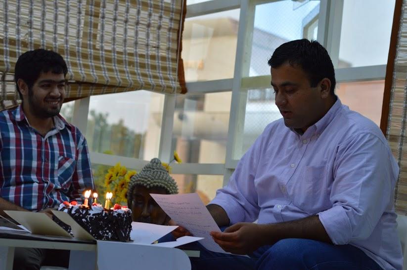 Aditya at Qriyo office.
