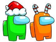 Among Us Christmas Coloring