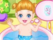 Baby Alice Bathing