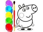 BTS Peppa Pig Coloring