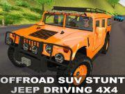 Offraod suv stunt jeep driving 4x4