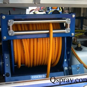 Cox Roller Guides keep the hose in front of the reel and off the vehicle