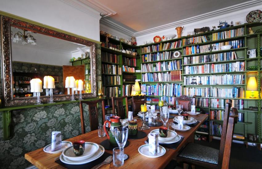 Dining room at this holiday destination at Harlech North Wales