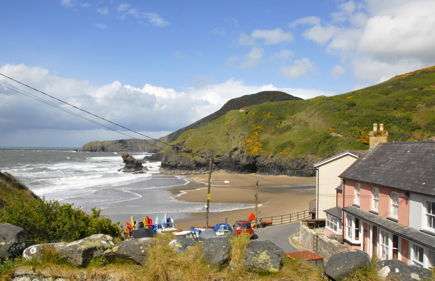 Ceredigion Coast Path at Llangrannog