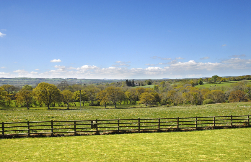 Views over the gardens and surrounding countryside