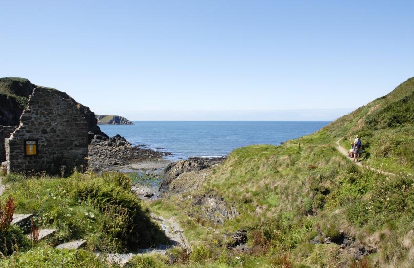 Aberfelin rocky cove