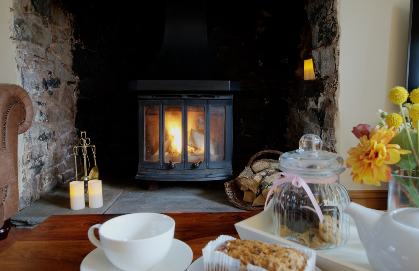 Mid Wales holiday cottage-fire