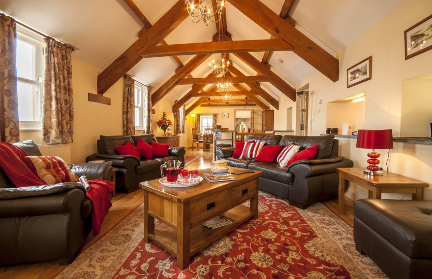 Spacious open plan living/dining area