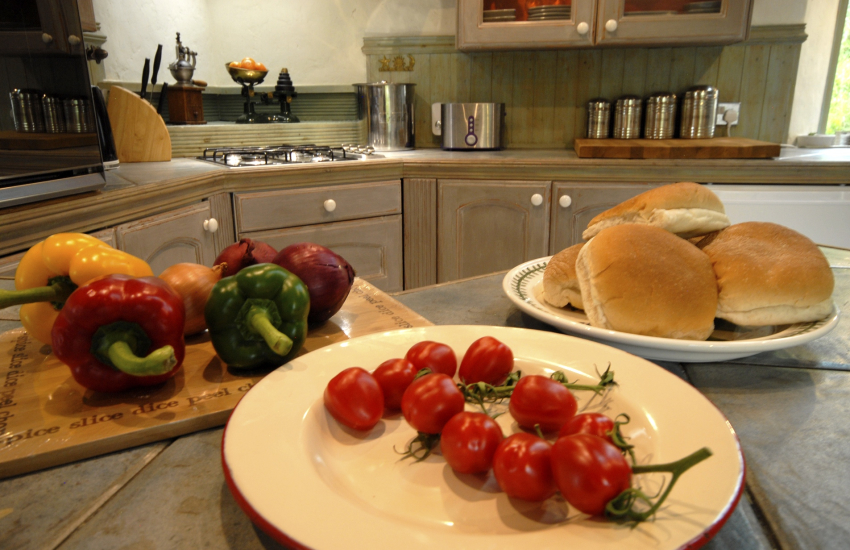 Pick your own tomatoes from the cottage garden during summer