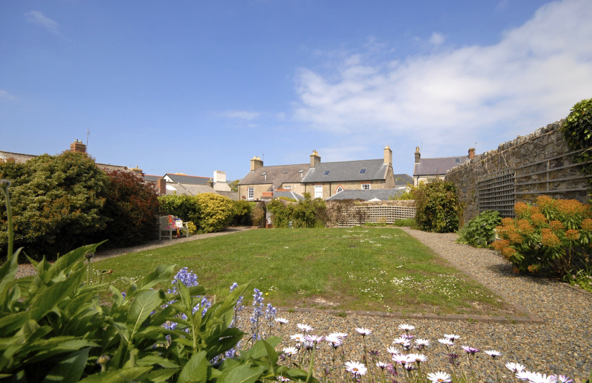 Private walled gardens at New Cross House, St Davids