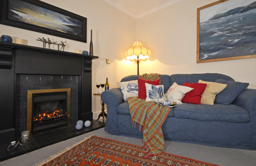 St Davids restored holiday home - warm cosy lounge