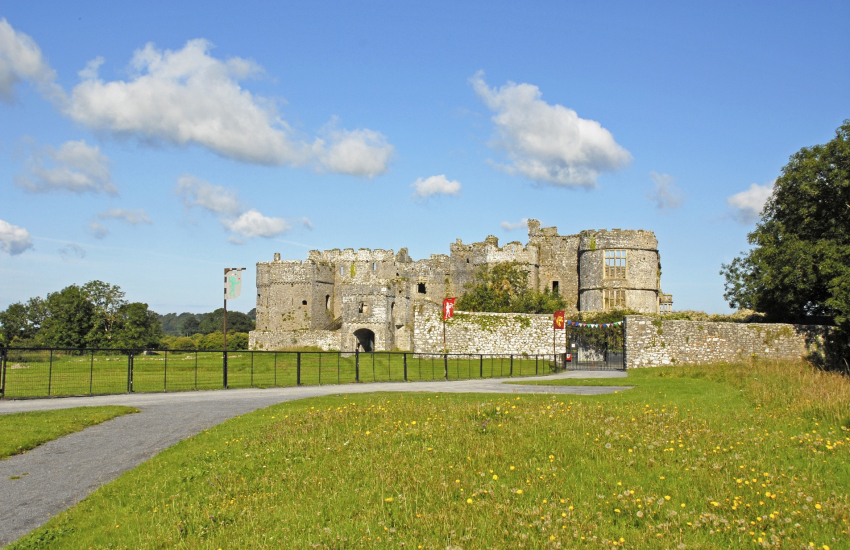 Magnificent Manorbier Castle plus Carew Castle