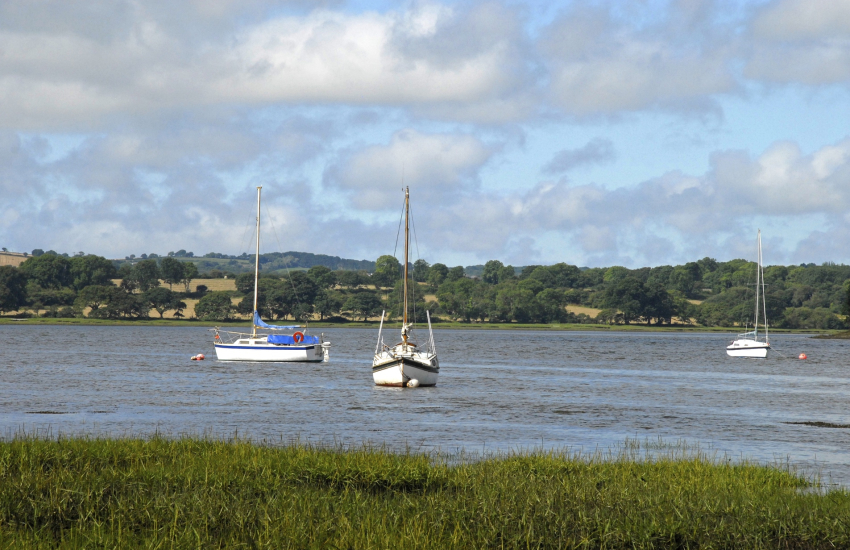 Cleddau River which stretches both east and west from The Rhos