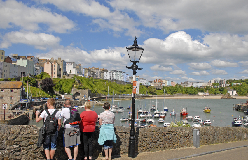 Tenby has a colourful harbour