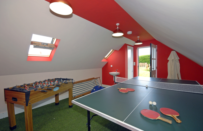Games room with table tennis and table football