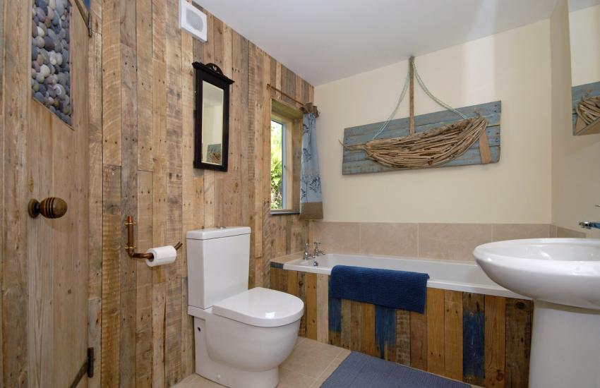 Rustic family bathroom