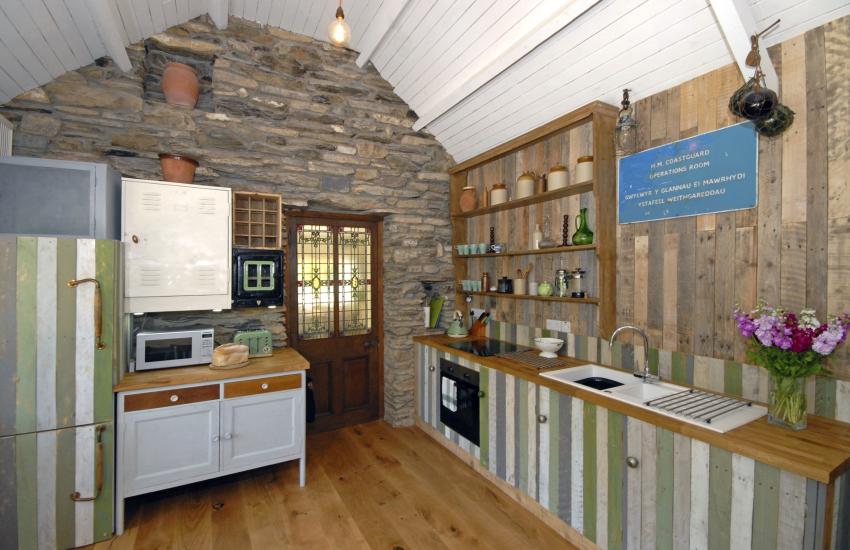 Open plan handmade kitchen area