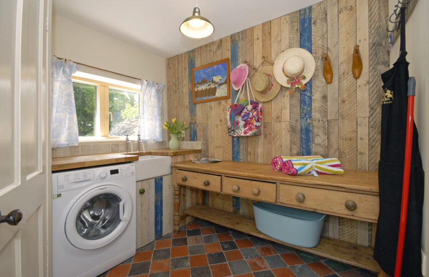 Utility room with separate toilet