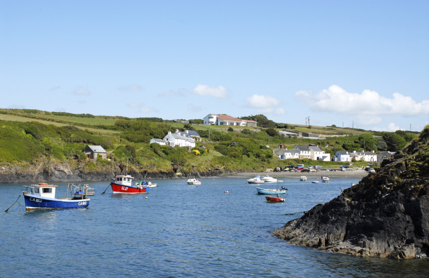 Abercastle is a sheltered little cove popular for swimming